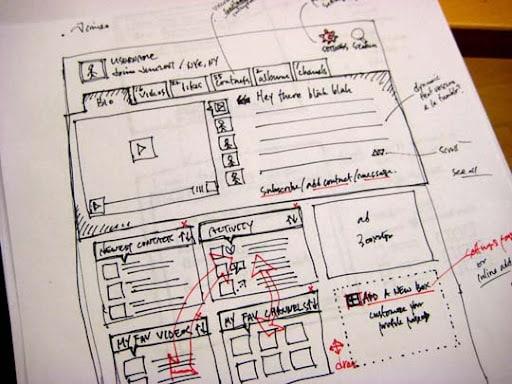website sketch image