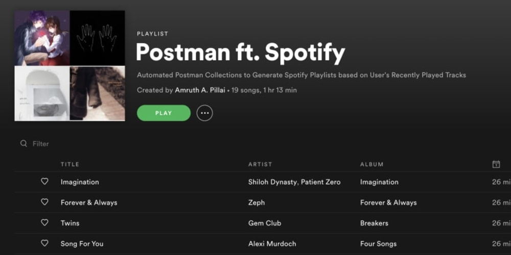 Show HN: Postman ft. Spotify, a study of automation - RapidAPI
