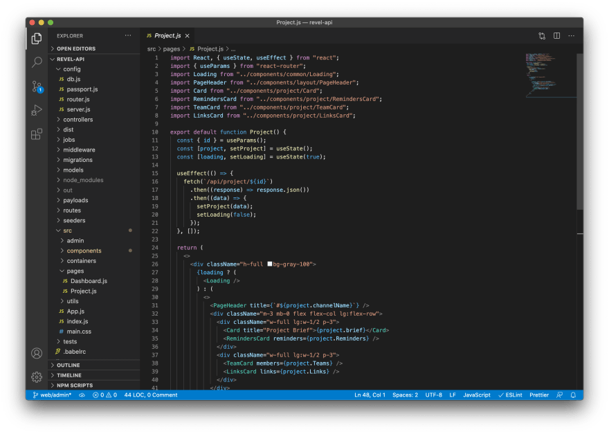 Dark mode UI design is the default for many code editors