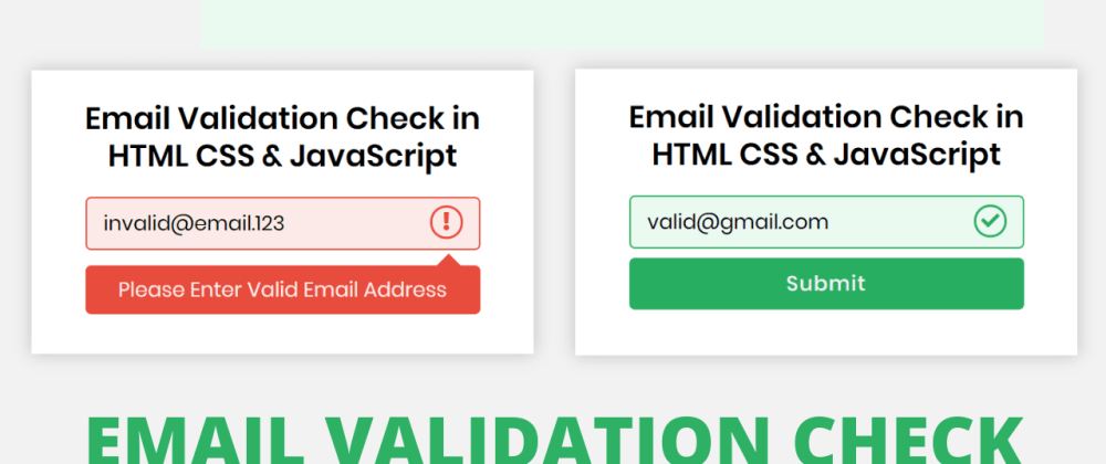 Cover image for Email Validation Check in HTML CSS & JavaScript