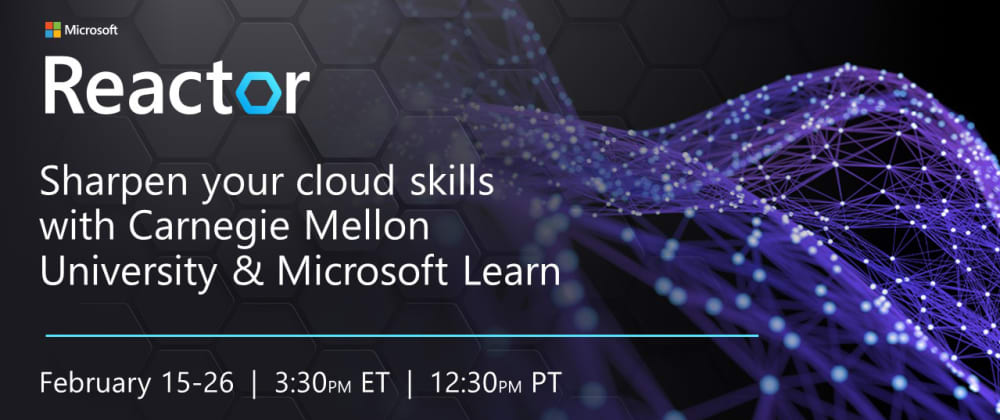 Cover image for Sharpen your Cloud Admin Skills with Microsoft Learn – LIVE – Feb 15-26, 2021