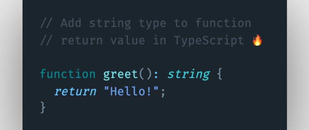 Cover image for How to add a string type to function return value in TypeScript?