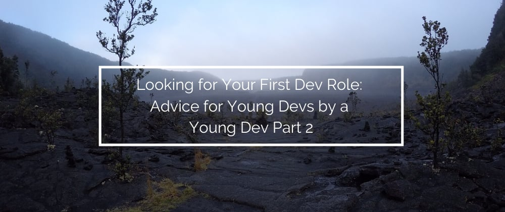 Cover image for Looking for Your First Dev Role: Advice for Young Devs by a Young Dev Part 2
