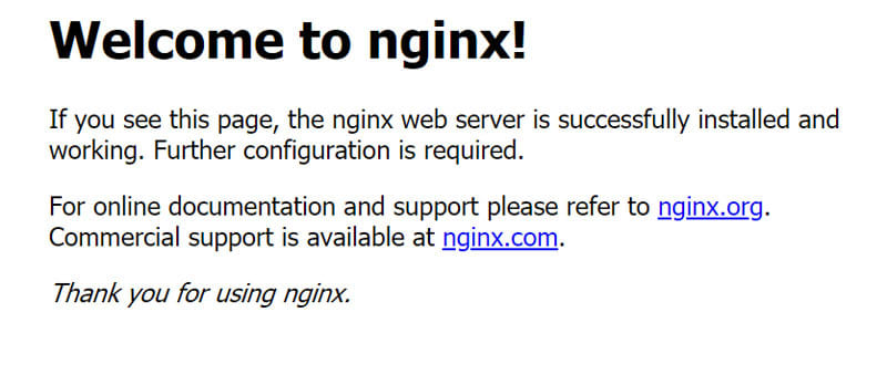 Nginx Kubernetes deployment