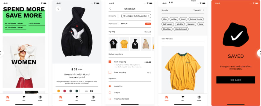 biggest React Native e-commerce application template