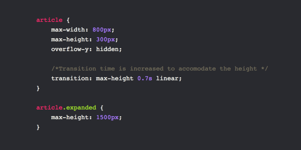 Using CSS Transitions on the Height Property - DEV Community