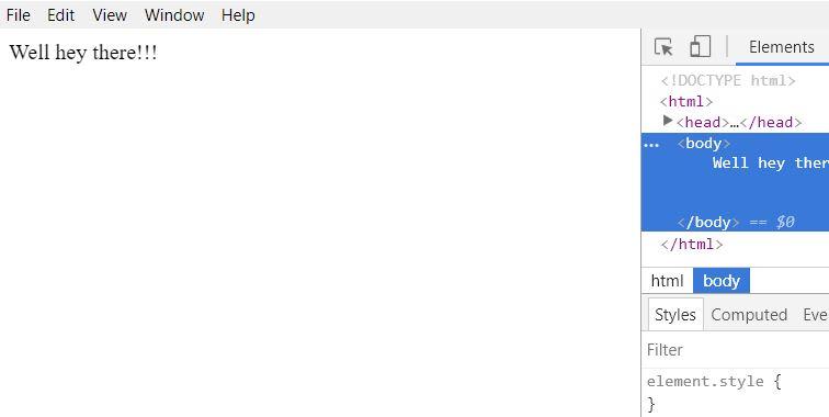 default result
