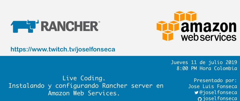 Cover image for Live Coding. Rancher y AWS