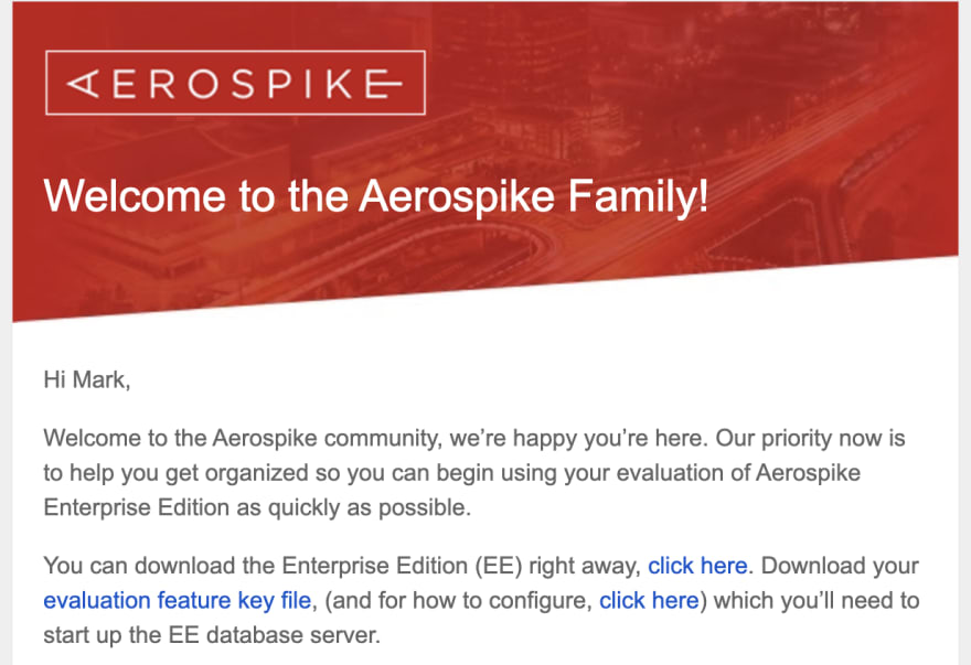 Welcome to the Aerospike Family