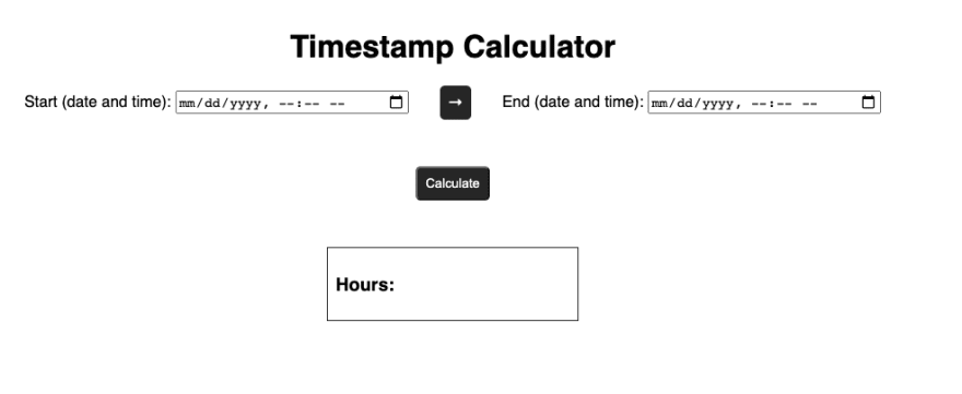 Timestamp Calculator project in the browser