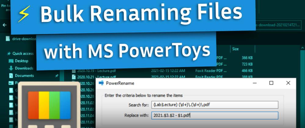 Cover image for Easily Bulk Rename Files on Windows