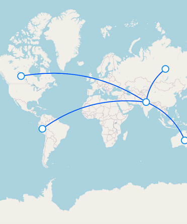 Air Routes Displayed in Flutter Maps
