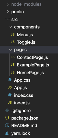A clean directory for our react app
