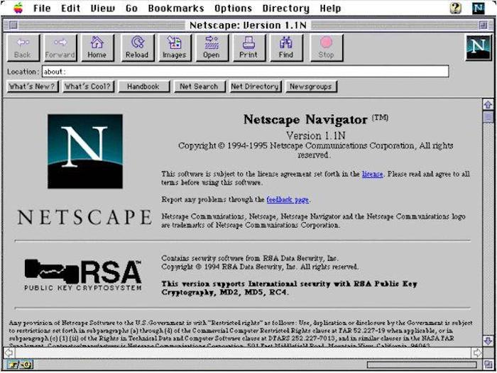 Netscape Navigator Browser Application