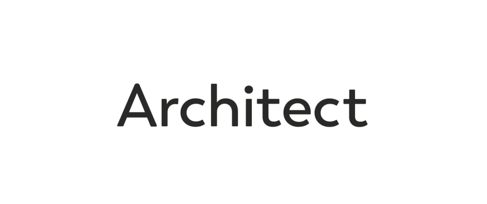 Cover image for a first look at architect