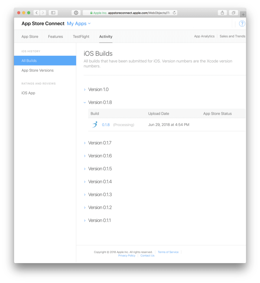 Simple release worflow for react native with expo - DEV