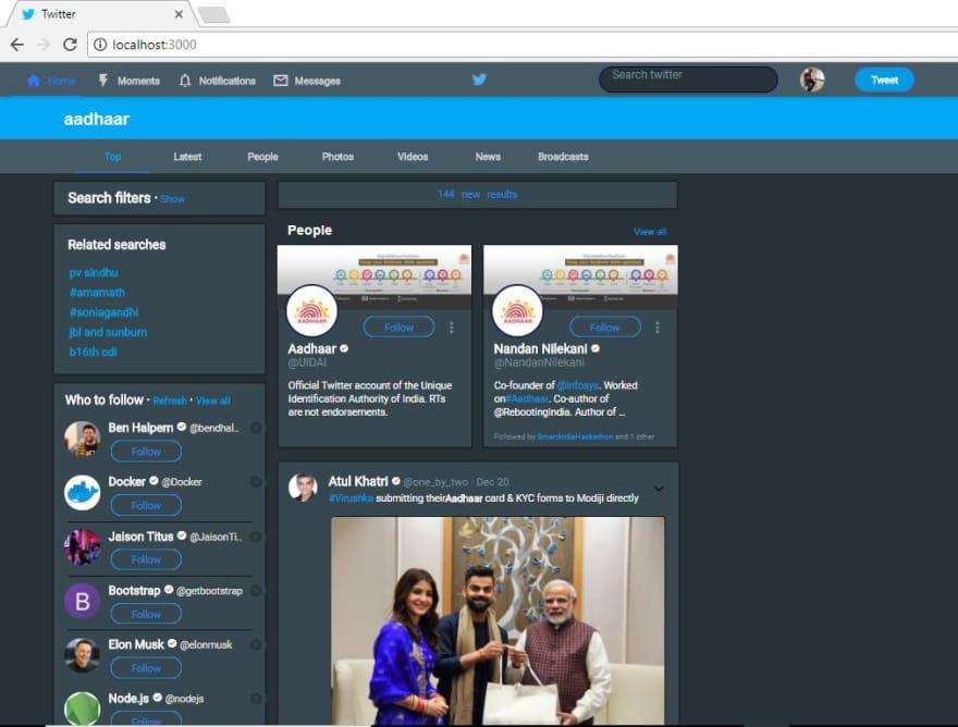 Twitter-searchpage