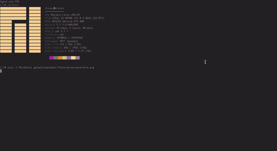 xst terminal screenshot
