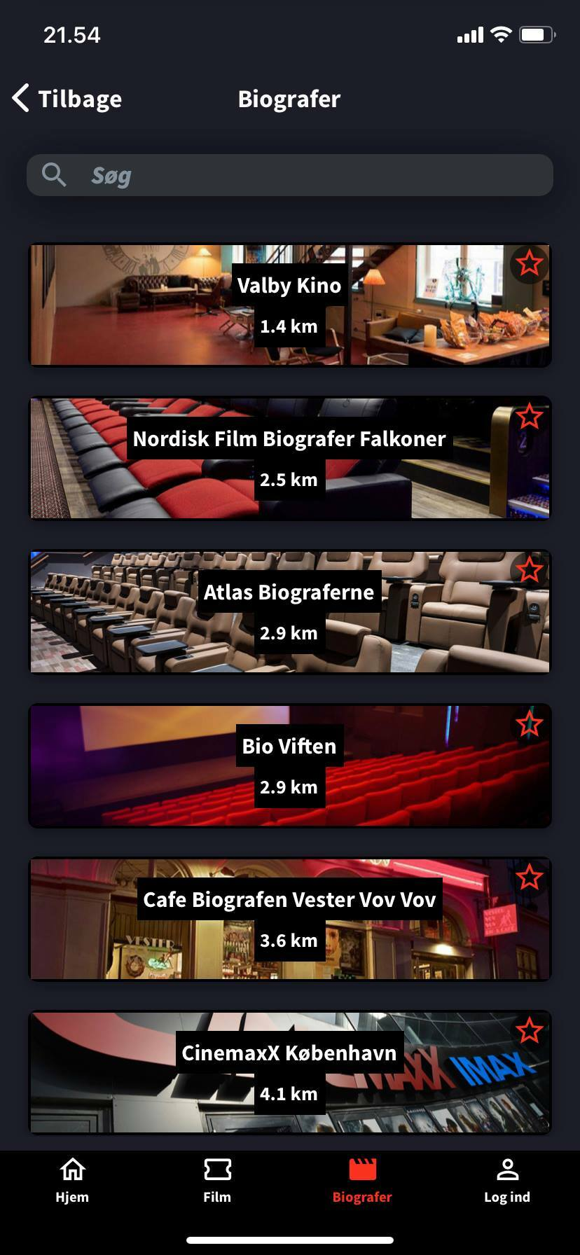 cinema overview kino app