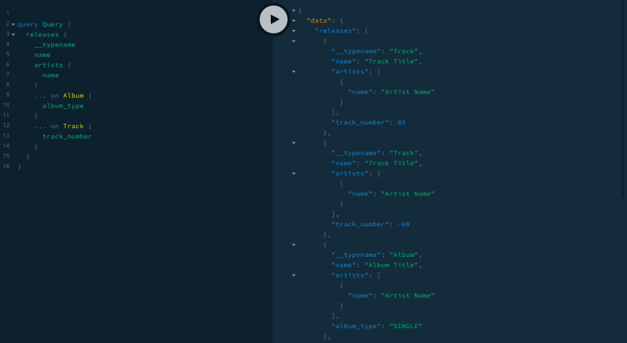 GraphQL IDE showing more than 2 releases