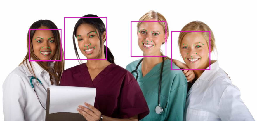 Realnets face detection
