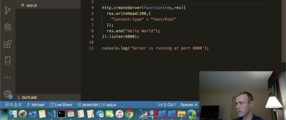 Cover image for Mbcrump's Stream Notes - Node.js from scratch