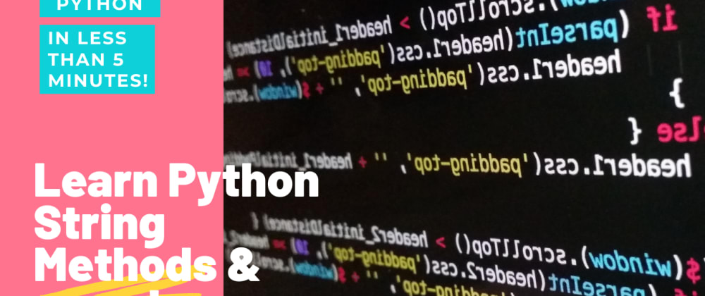 Cover image for Python string Methods in video tutorial #2
