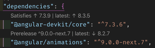 Screenshot of a section of code.