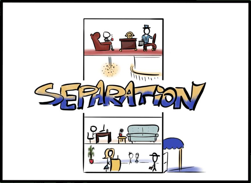Separation of building floors