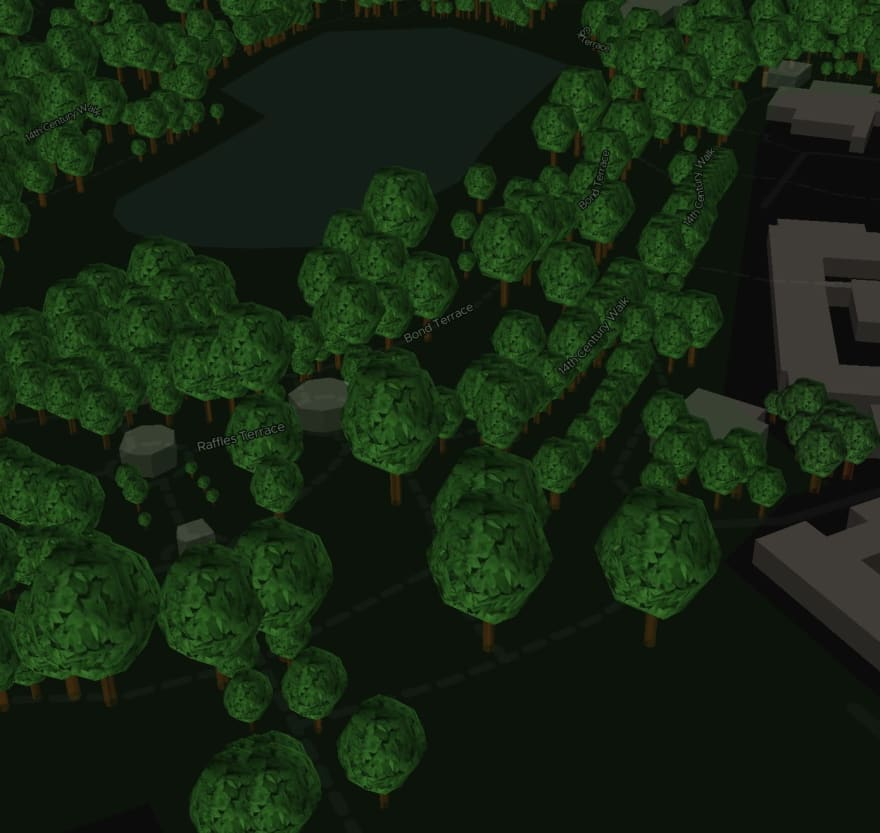 ExploreTrees.SG 3D realistic trees — tree crowns with less vertices