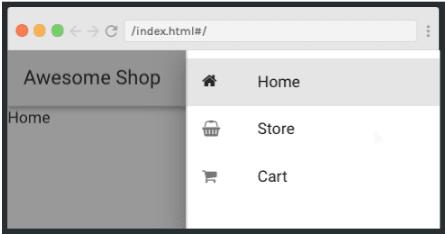 Vuetify web store navigation