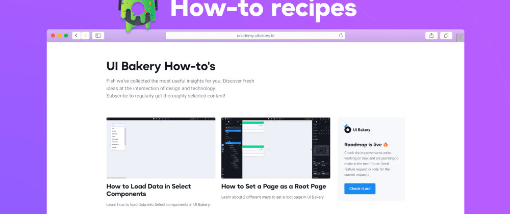 Cover image for Check the new how-to guides on creating web app components in UI Bakery
