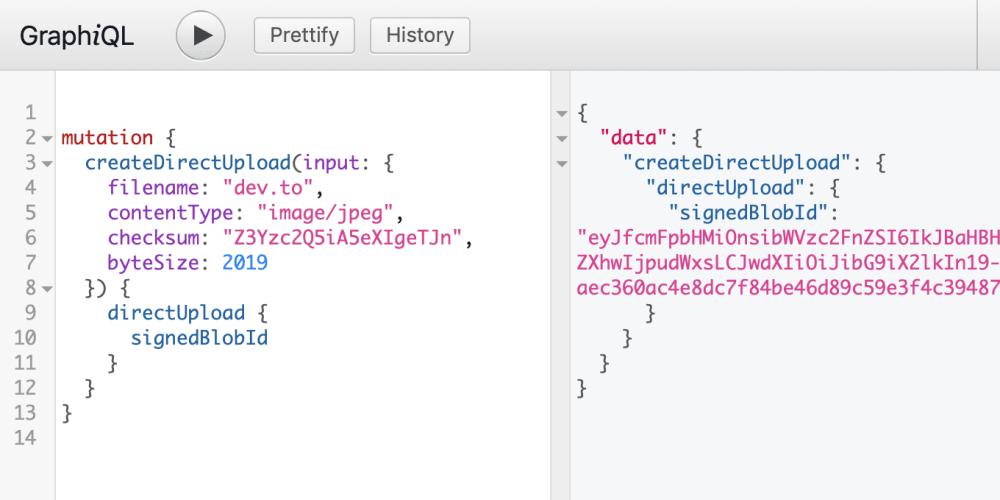 Active Storage meets GraphQL: Direct Uploads - DEV Community