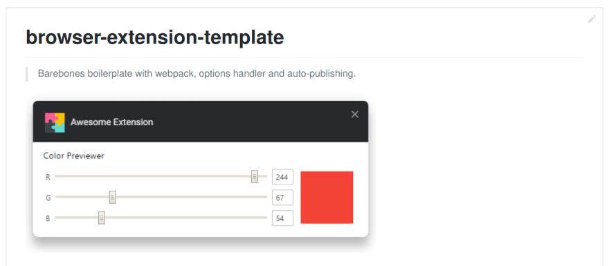 browser-extension-template on GitHub