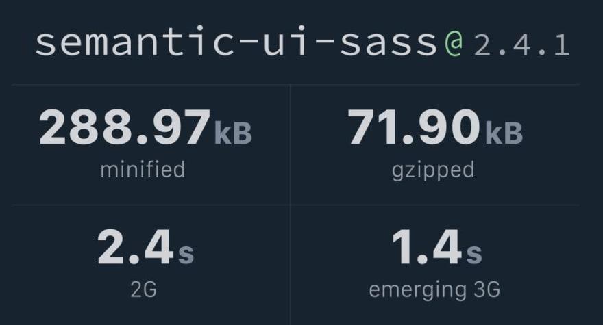 Semantic UI CSS framework