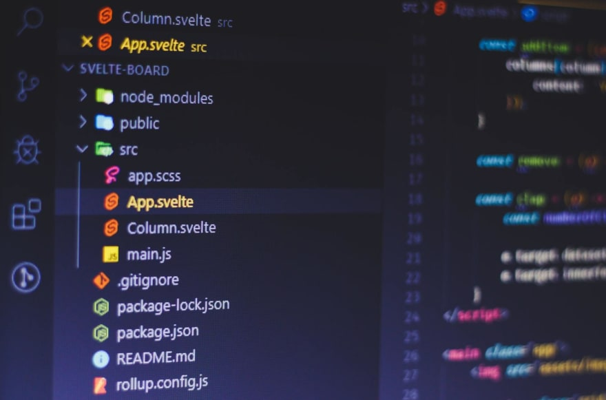 VSCode with a Svelte project Open