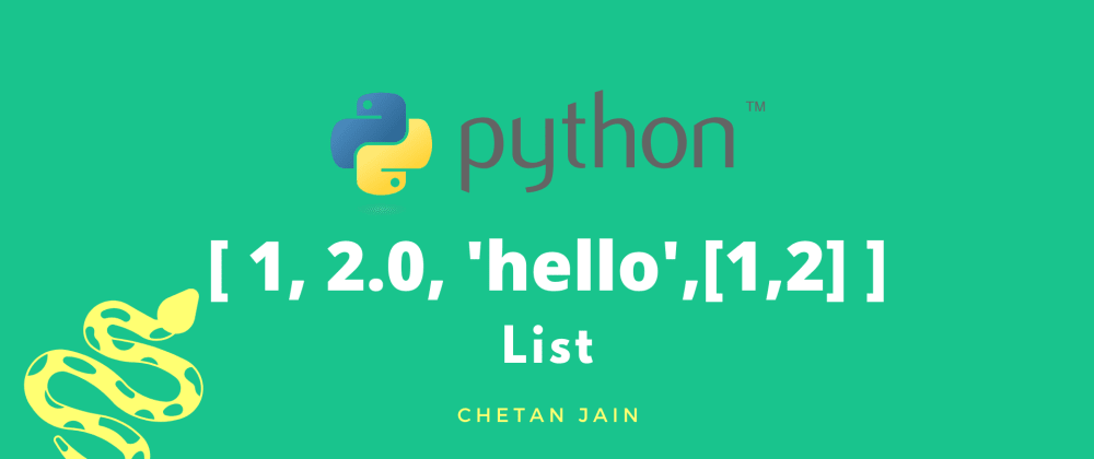 Cover image for List in Python