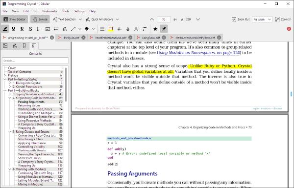 Just noticed Okular PDF is on Windows