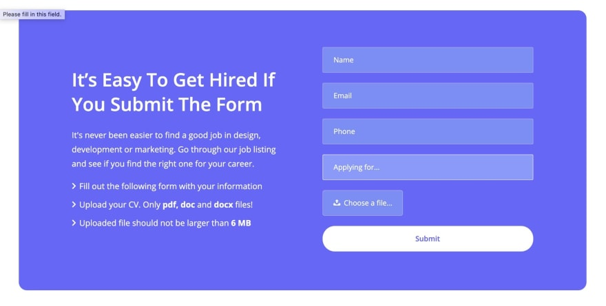 Viso HTML Template Contact form
