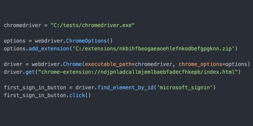 Selenium Python code
