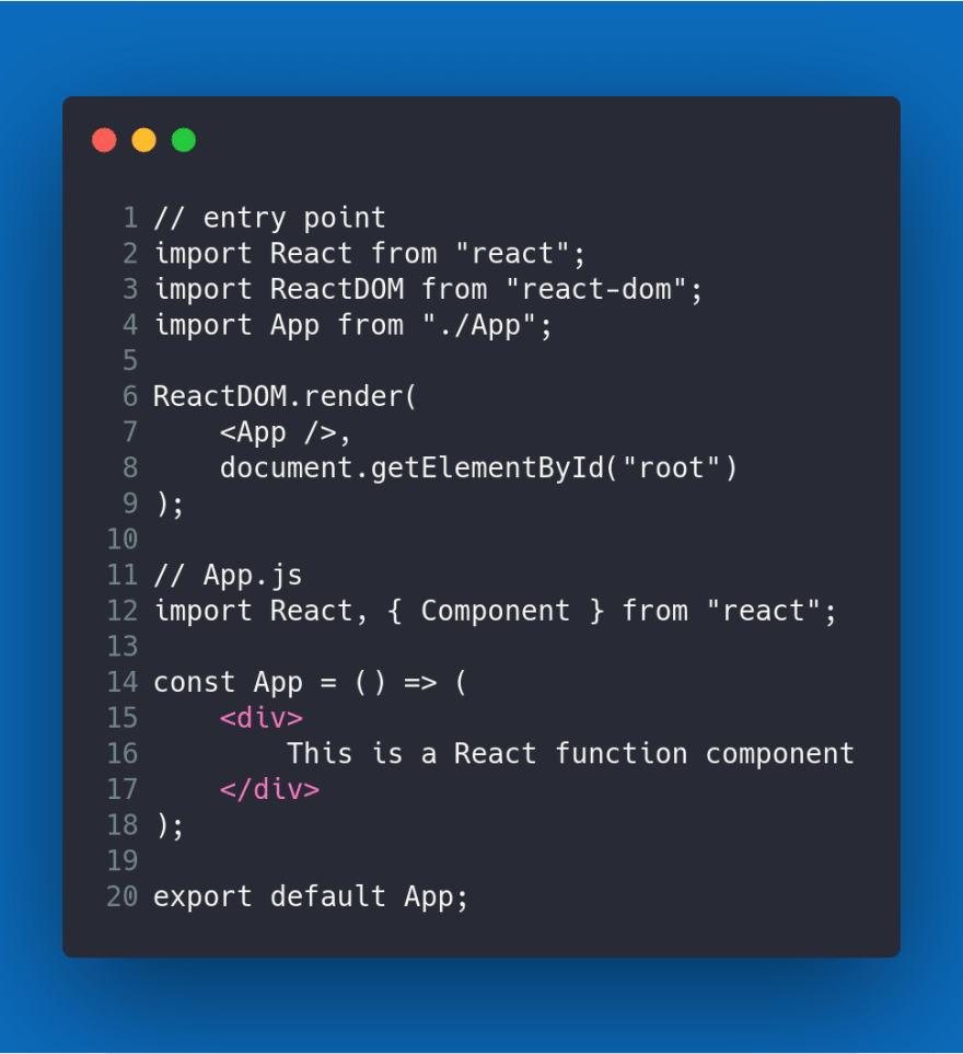 A React Function Component