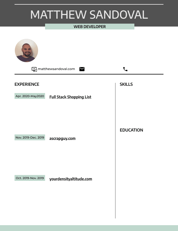 My Resume Design