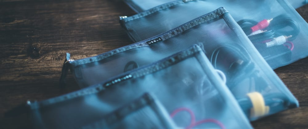 Cover image for A tip to declutter unused  cables with a tape writer and pouches