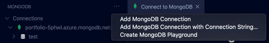 Create MongoDB Playground