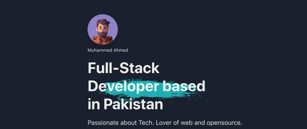 Cover image for Built a attractive portfolio page with React, ChakraUi, and framerMotion