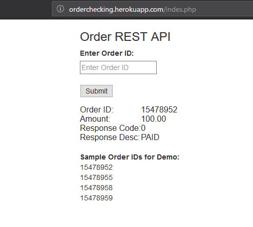 Check order again