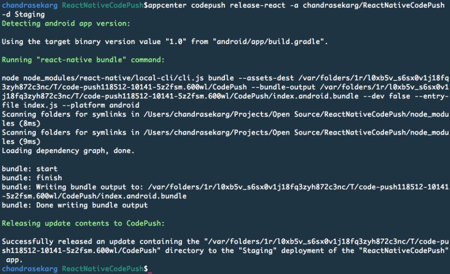 React Native updates with VS App Center CodePush - DEV