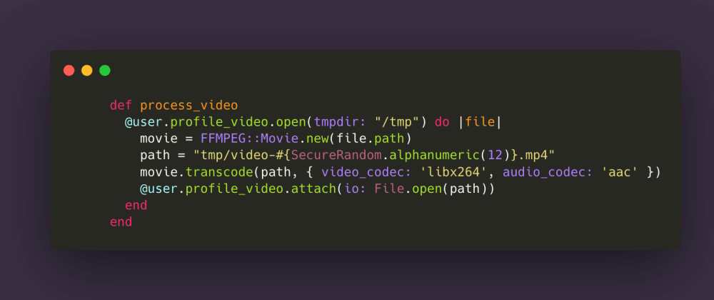 Cover image for Building a video converter with Rails 6 and FFmpeg