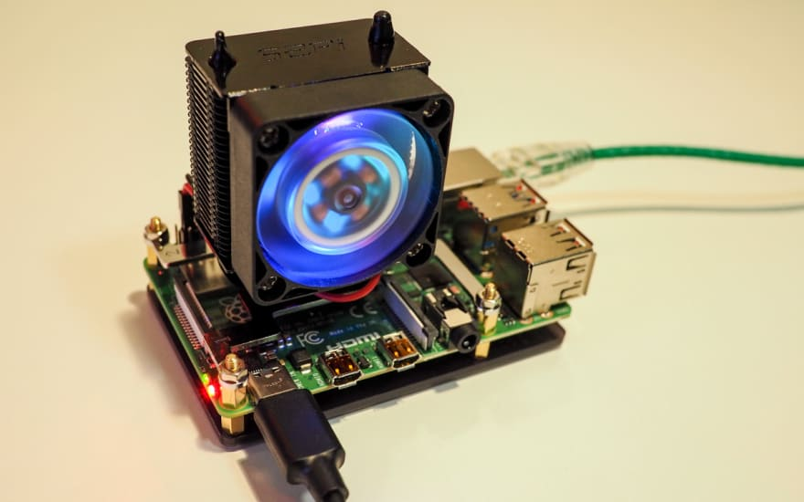 Raspberry Pi 4 with RGB Cooler Tower