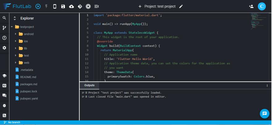 project window